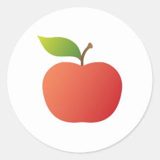 Nice red apple classic round sticker