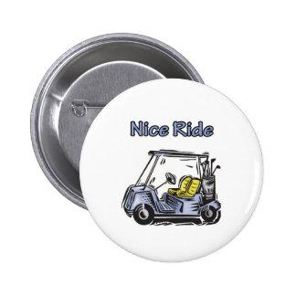 Nice Ride Golf Design 2 Inch Round Button
