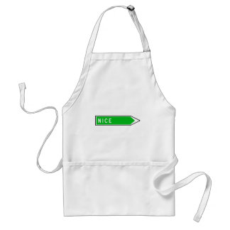 Nice, Road Sign, France Adult Apron