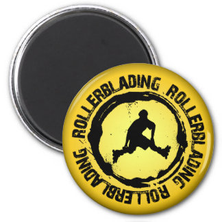 Nice Rollerblading Seal 2 Inch Round Magnet