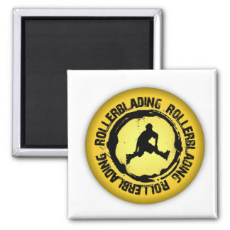 Nice Rollerblading Seal 2 Inch Square Magnet