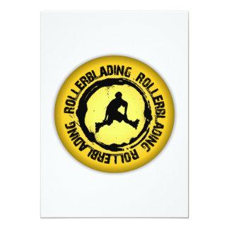 Nice Rollerblading Seal Card