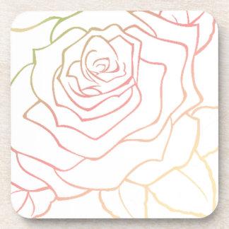 Nice Rose Flower in Pink Ombre, Rose Flower giftt Drink Coaster