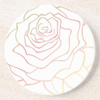 Nice Rose Flower in Pink Ombre, Rose Flower giftt Sandstone Coaster