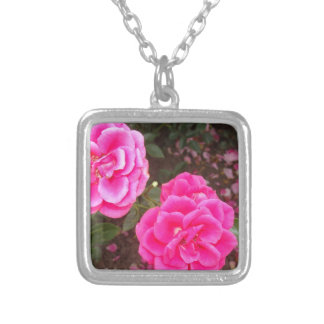 Nice Roses Square Pendant Necklace