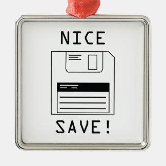 Nice Save! Metal Ornament