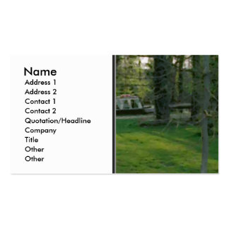 Nice scene with Narrowboat. Business Card