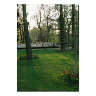 Nice scene with Narrowboat. Large Business Card