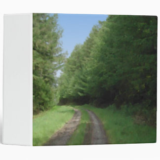 Nice scenic view of a pathway and trees. 3 ring binder