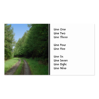 Nice scenic view of a pathway and trees business card