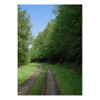 Nice scenic view of a pathway and trees business cards