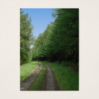 Nice scenic view of a pathway and trees. business card