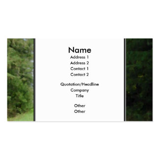 Nice scenic view of a pathway and trees business card templates