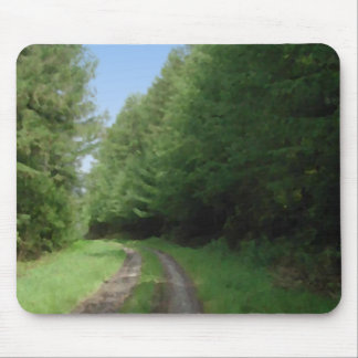 Nice scenic view of a pathway and trees. mouse pad