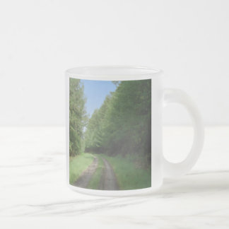 Nice scenic view of a pathway and trees coffee mug