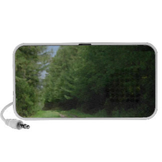 Nice scenic view of a pathway and trees. iPhone speakers