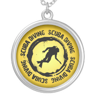Nice Scuba Diving Seal Silver Plated Necklace