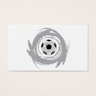Nice Soccer Circular Grunge Business Card