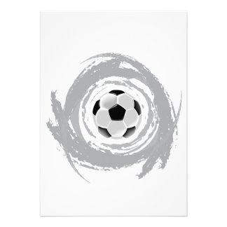 Nice Soccer Circular Grunge Invites
