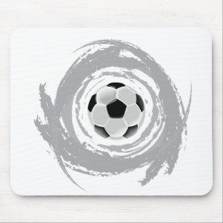 Nice Soccer Circular Grunge Mouse Pad