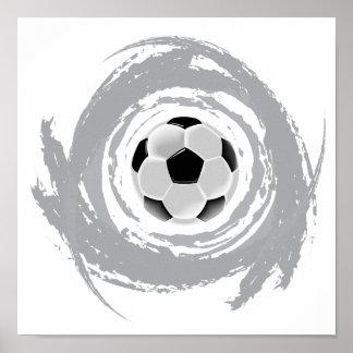 Nice Soccer Circular Grunge Poster