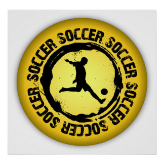 Nice Soccer Seal Poster