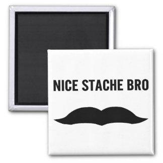 Nice Stache Bro 2 Inch Square Magnet