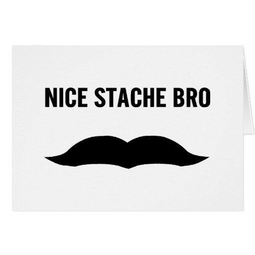 Nice Stache Bro Cards