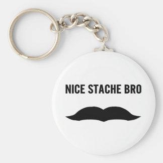 Nice Stache Bro Keychain