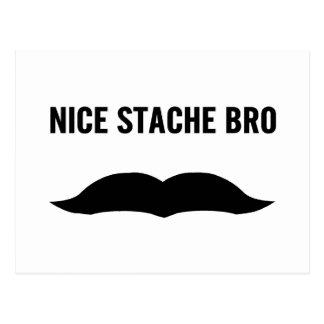 Nice Stache Bro Postcard