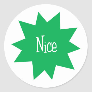 Nice Starburst Round Sticker