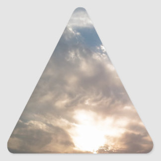 nice sun and clouds triangle sticker