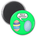 Nice Tattoo Easter Eggs 2 Inch Round Magnet