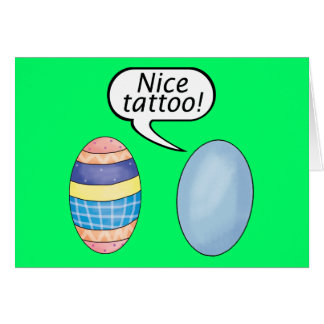 Nice Tattoo Easter Eggs Card