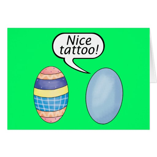Nice Tattoo Easter Eggs Cards