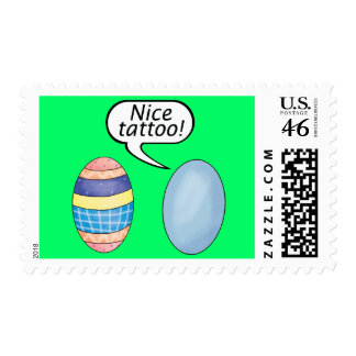 Nice Tattoo Easter Eggs Stamp