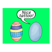 Nice Tattoo Easter Eggs Postcard