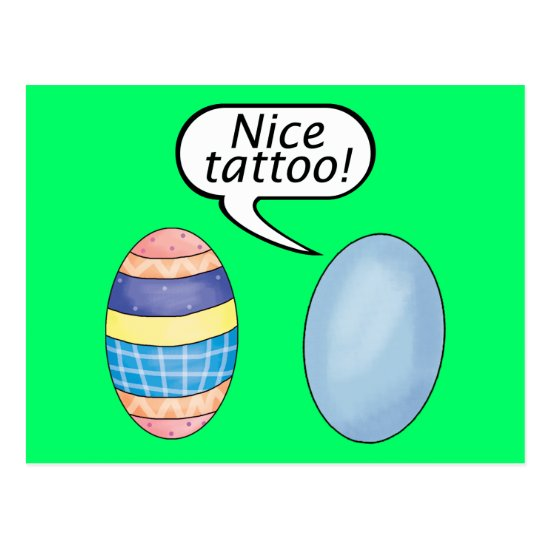 Nice Tattoo Easter Eggs Postcard