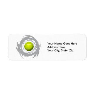 Nice Tennis Circular Grunge Label