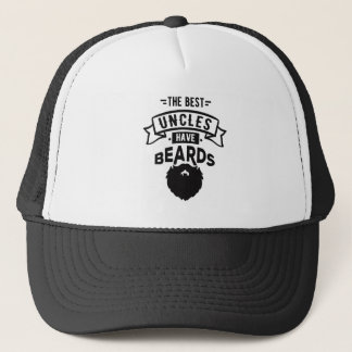 Nice The Best Uncles Have Beards Print Trucker Hat
