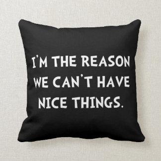 Nice Things Throw Pillow