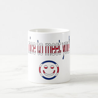 Nice to Meet You! Britain Flag Colors Coffee Mug