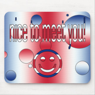 Nice to Meet You! Britain Flag Colors Pop Art Mouse Pad