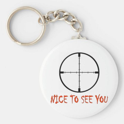 NICE TO SEE YOU BASIC ROUND BUTTON KEYCHAIN