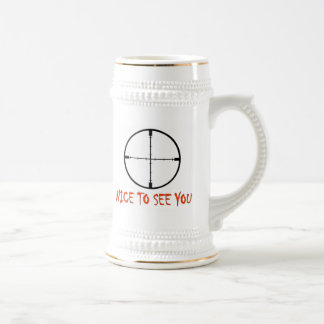 NICE TO SEE YOU 18 OZ BEER STEIN