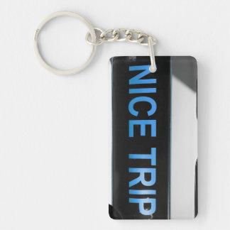 ~Nice Trip~ Miami Keychain, Blue