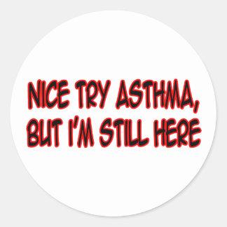 Nice Try Asthma Sticker