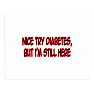 Nice Try Diabetes... Postcard