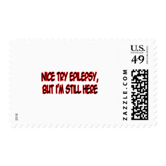 Nice Try Epilepsy... Postage Stamps