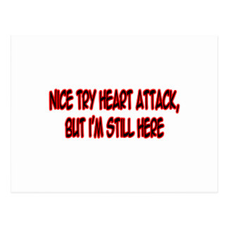 Nice Try Heart Attack... Postcards